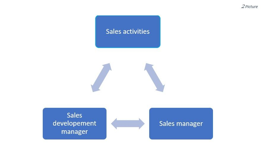 Sales departments activities
